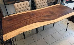 natural or live edge exotic parota wood slab for a desk or a dining table top