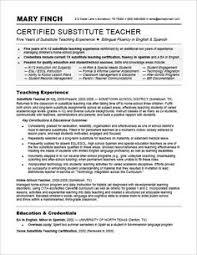 Sample Teaching Resumes For Preschool Preschool Teacher Resume