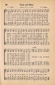 antique image hymn book page trust and obey via knick of time