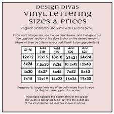 Vinyl Decal Pricing Chart Vinyl Lettering Decal Welcome Friends And Family 1505
