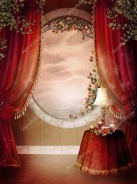 Red Bedroom Curtains Victorian Bedroom With Red Curtains Stock Photo