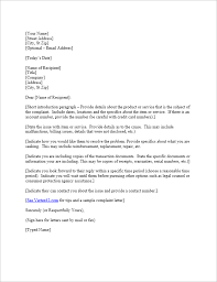 Complaint Letters To Companies Simple Free Complaint Letter Template Sample Letter Of Complaint