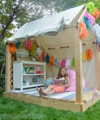 well then reward that awesome behavior by giving them an outdoor reading nook
