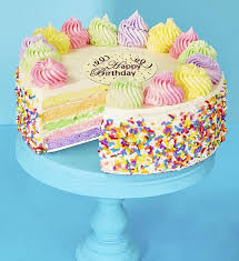 Bake Me A Wish Happy Birthday Rainbow Cake 1800basketscom