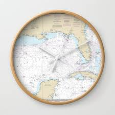 Mexico Navigation Charts Gulf Of Mexico Nautical Chart Clock Noaas Official