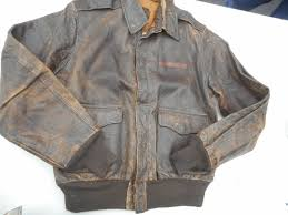 details about ww2 a 2 leather flight jacket size 40 mfg j a dubow chicago ill