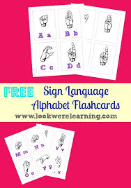 Free Alphabet Flash Cards Free Printable Sign Language Alphabet Flashcards