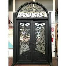 wrought iron glass doors door designs round round top and luxury bronze entry iron door unique wrought iron glass doors