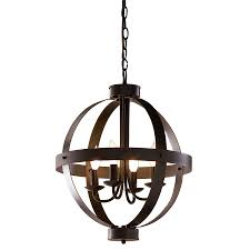allen roth 18 in antique rustic bronze rustic single pendant