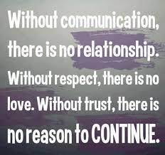 Inspirational Quotes About Love And Relationships Adorable Without Communicationthere Is No RelationshipWithout Respectthere