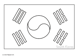 Small Picture Coloring page flag South Korea img 6317