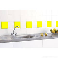 20 x tile stickers 150mm x 150mm to fit 6 inch kitchen bathroom tiles greenstar graphics yellow