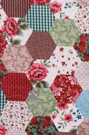 calico hexies cheater patchwork print cotton quilting fabric, 9+ ... & calico hexies cheater patchwork print cotton quilting fabric, 9+ yds  hexagon blocks Adamdwight.com