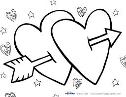 Valentine Heart Coloring Pages For Kids With Unique Valentines Day