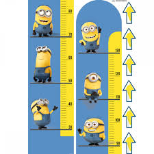 Minion Bedroom Minions Height Chart Giant Sticker Great Kidsbedrooms The