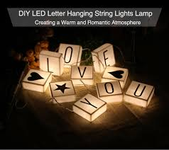 Dropshipping For Diy Led Letter Hanging String Lights Lamp Parties