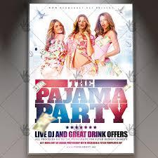 Part Flyer Pajama Party Flyer Club Flyer Psd Template Psdmarket