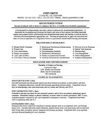 Emergency Room Nurse Resume Template Registered Nurse Resume