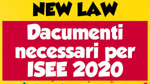 ISEE 2020 new law | Dacumenti necessari per ISEE 2020