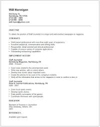 Journalism Resume Examples Luxury Journalism Resume Template