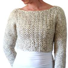 Crop Top Pattern Unique SILENCE Sweater Crop Top Knitting Pattern Brome Fields