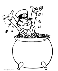 Pot Of Gold Color Sheets Pot Of Gold Coloring Pages 003