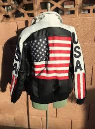 vintage 90 s michael hoban usa leather jacket american flag festival biker stars and stripes by vamprodeovintage on