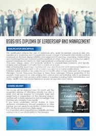 diploma leadership management alliances  diploma of leadership management