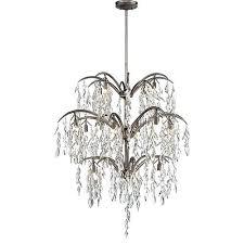 16 light chandelier metropolitan lighting flora silver mist touareg 35 wide chrome crystal