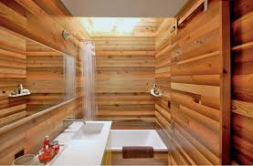 wood modern bathroom