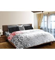 portico new york classic queen size black double bed sheet set by portico new york nature and fls furnishings pepperfry