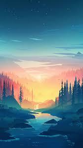 Scenery wallpaper, Painting wallpaper ...