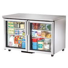 48 undercounter refrigerator w two glass doors ada compliant