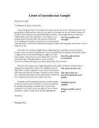 Job Letter Introduction Sample Fast Online Help