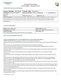 college syllabus template drawing 1 syllabus