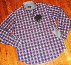 Details About Bugatchi Uomo Mens Brand New Original Shaped Fit Dress Shirt Size L Large Nwt