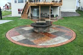 Patio Landscaping Slate Patio Stones With Pea Stone Gravel A Square Fire  Designs Pit Pictures Ideas Stone Patio Ideas Pics Patio Stone Ideas Stone  Patio ...
