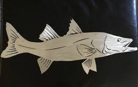image of metal fish wall art simple