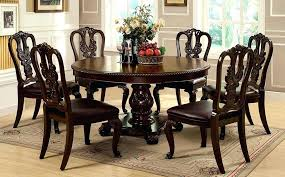 6 chair round dining table set furniture of w set round dining extending black glass