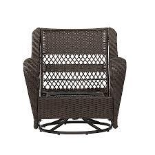 garden treasures glenlee brown wicker swivel glider patio outdoor rocking chairs gliders conversation chair metal hammock