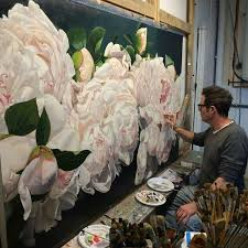 glorious peonies painted by thomas darnell artist france