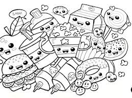 Cute Food Coloring Pages Design Templates