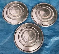 ford torino hubcaps wheel covers vintage hub caps  image is loading ford torino hubcaps 3 wheel covers 15 034