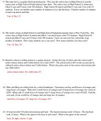 Solving Systems Of Equations Word Problems Worksheet Free ...