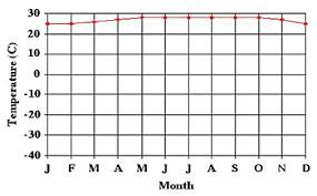 Rainforest Weather Chart Temperature And Precipitation Graphs