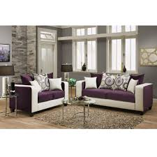 Purple Living Room Furniture Flash Furniture Riverstone Implosion Purple Velvet Living Room Set