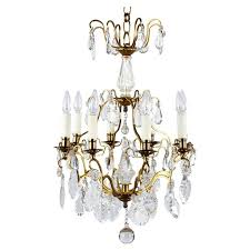 french napoleon iii crystal chandelier late 1800s for
