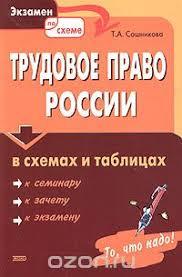 Трудовое право России в схемах и таблицах Тамара Сошникова  Трудовое право России в схемах и таблицах
