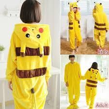 Hot <b>Children</b> Adult Pokemon Pikachu <b>Anime</b> Onesie <b>Kids Girls</b> Boys ...
