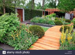 homebase garden by adam frost at the rhs chelsea flower show 2016 stock image